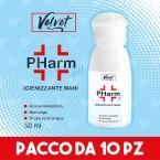 VELVET PHarm - 10 PZ - GEL IGIENIZZANTE MANI - 50 ml